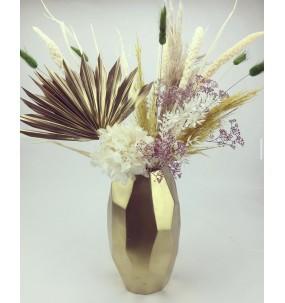 Vase de fleures séchées