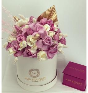 Box M blanche compo Rose...