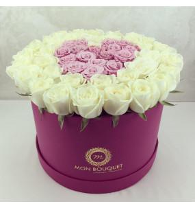 Box L Fushia Rose blanche...