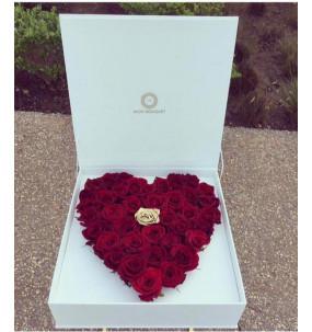 Coffret Coeur Rose rouge...